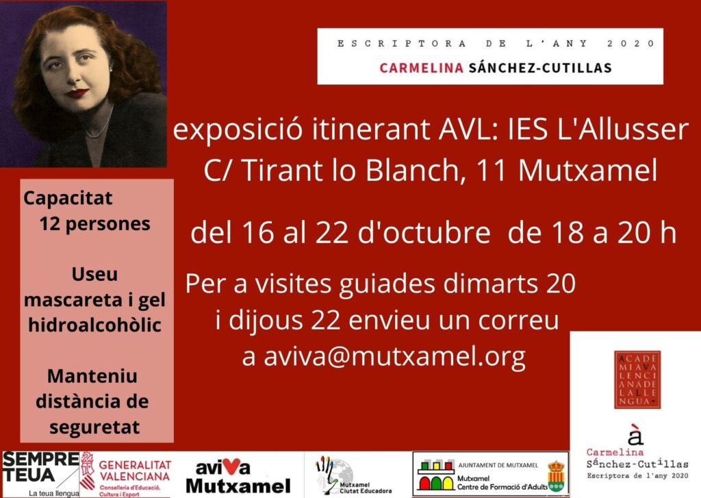 Exposición en el IES Mutxaeml sobre Carmelina Sánchez-Cutillas