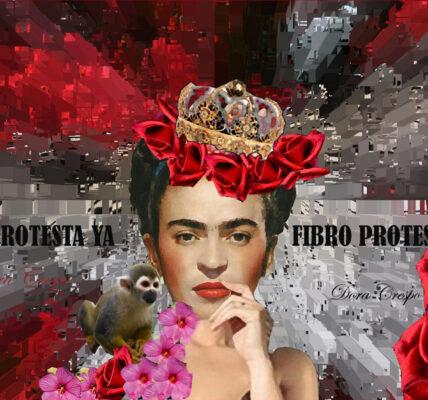 Frida Khalo cartel del concurso literario Fibromialgia Ya